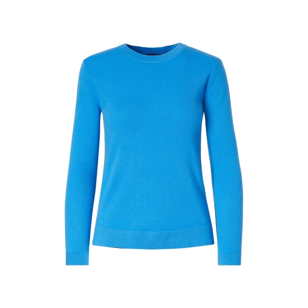 Ralph Lauren Cashmere Jersey Sweater Brookfield Blue M