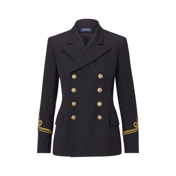 Ralph Lauren Cotton-Wool Admiral Jacket Park Avenue Navy 2