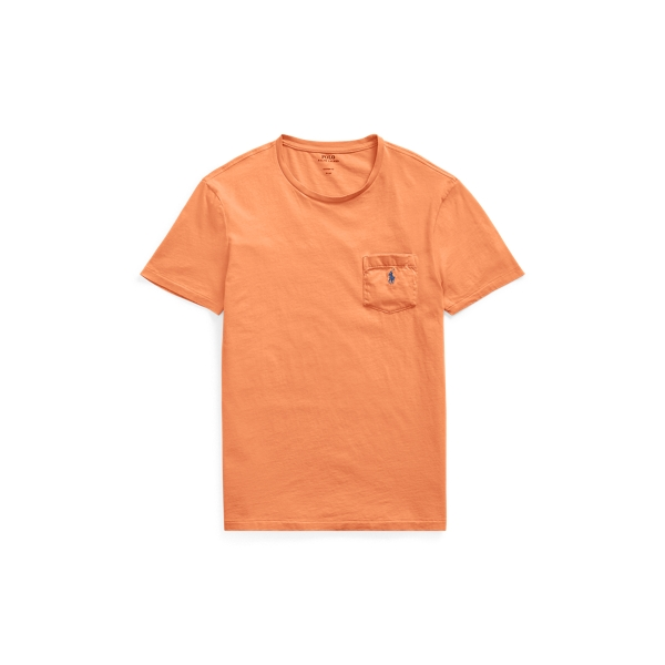 Ralph Lauren Custom Slim Fit Cotton T-Shirt May Orange M