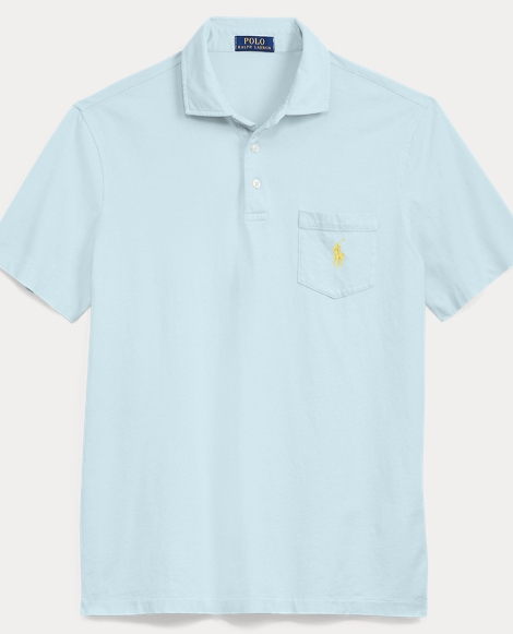 Custom Fit Jersey Polo Shirt