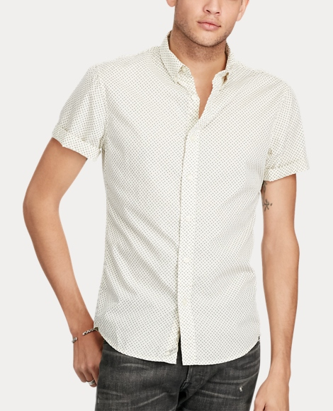 Slim Anchor Cotton Shirt