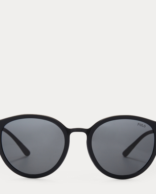 Round Metal Sunglasses by Ralph Lauren