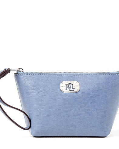Leather Cosmetic Wristlet