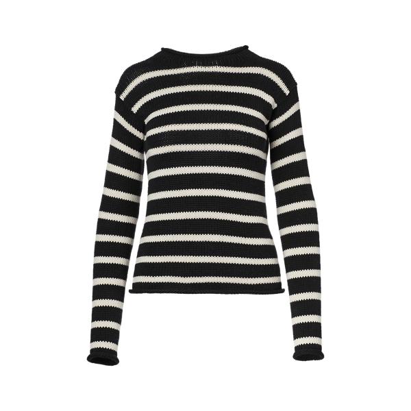 Ralph Lauren Striped Rollneck Sweater Black W/ Cream M