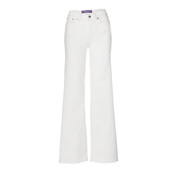 Ralph Lauren 143 High-Rise Wide-Leg Jean Rinsed White 25