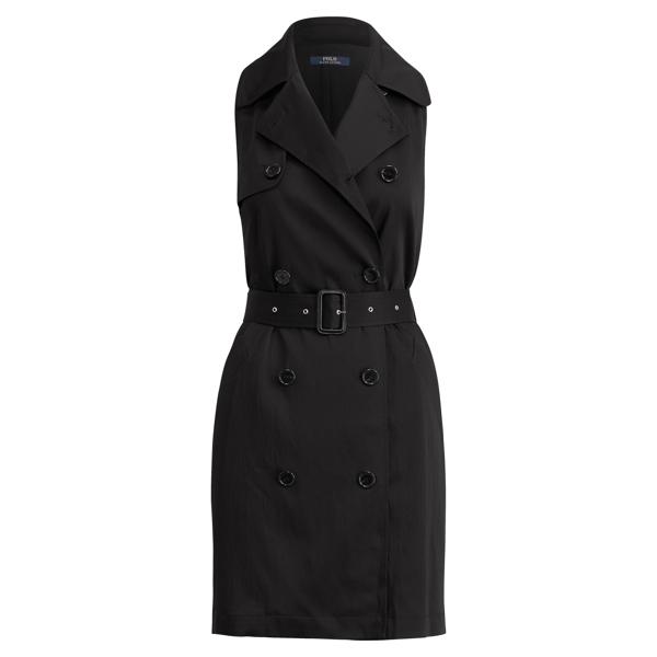 Ralph Lauren Satin Sleeveless Dress Polo Black 2
