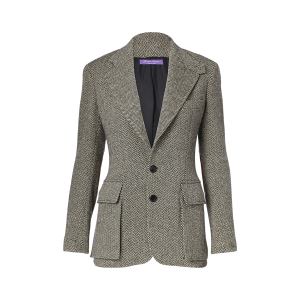 Ralph Lauren The Tweed Jacket Cream/Black 6
