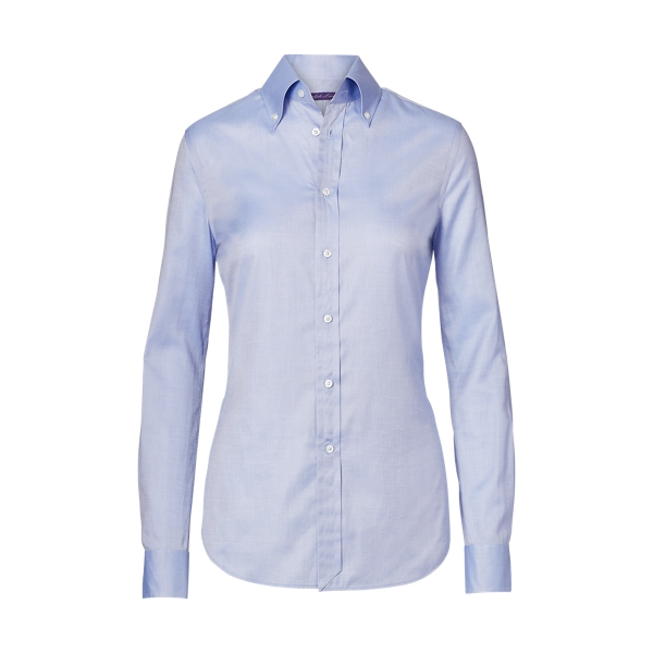 Ralph Lauren Cameron Cotton Oxford Shirt Blue 4