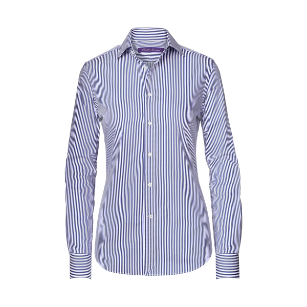 Ralph Lauren Charmain Striped Shirt White/Classic Blue 2