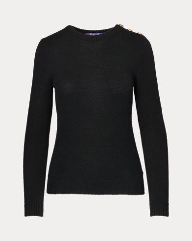 Buttoned Cashmere Sweater