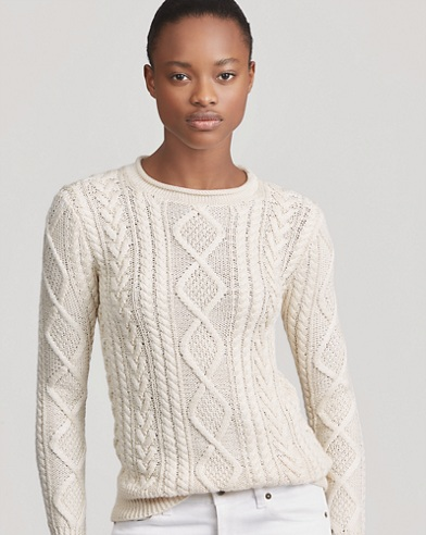 Hand-Knit Aran Sweater