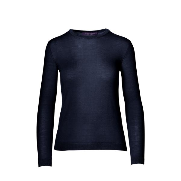 Ralph Lauren Cashmere Crewneck Sweater Navy S