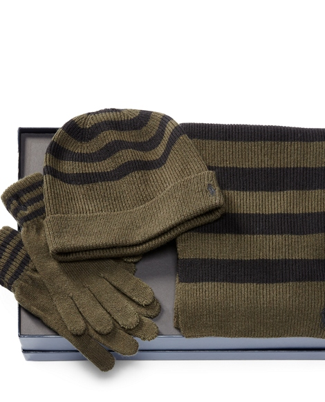 Striped Cold Weather Gift Set