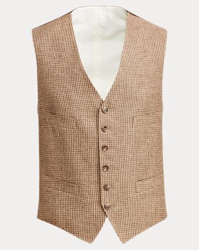Textured Linen Vest