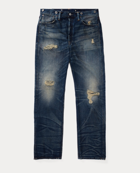 Selvedge Buckled-Back Jean