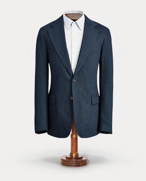 Indigo Cotton Sport Coat