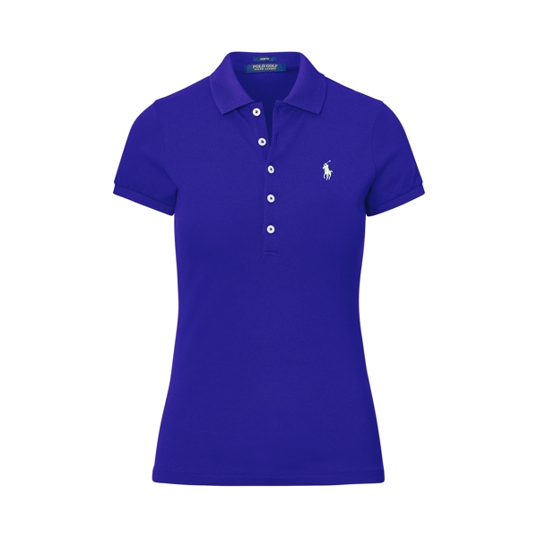 Ralph Lauren Slim Fit Cotton Mesh Polo Flag Royal Xxs
