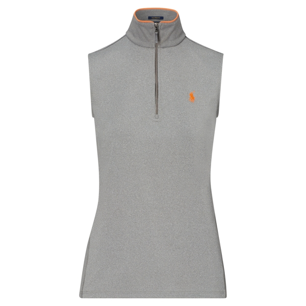 Ralph Lauren Tailored Fit Sleeveless Polo Classic Grey Heather Xs