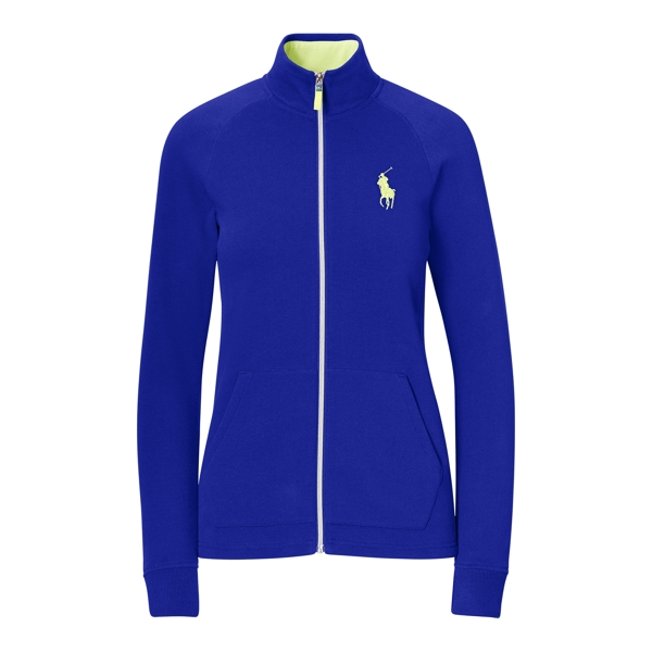 Ralph Lauren Fleece Full-Zip Jacket Flag Royal Xxs