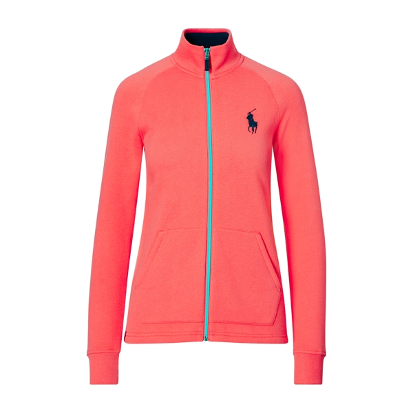 Ralph Lauren Fleece Full-Zip Jacket Coral Glow Xxs