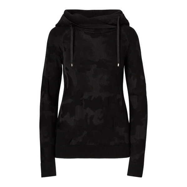 Ralph Lauren Camo Hooded Pullover Camo Jacquard Black L