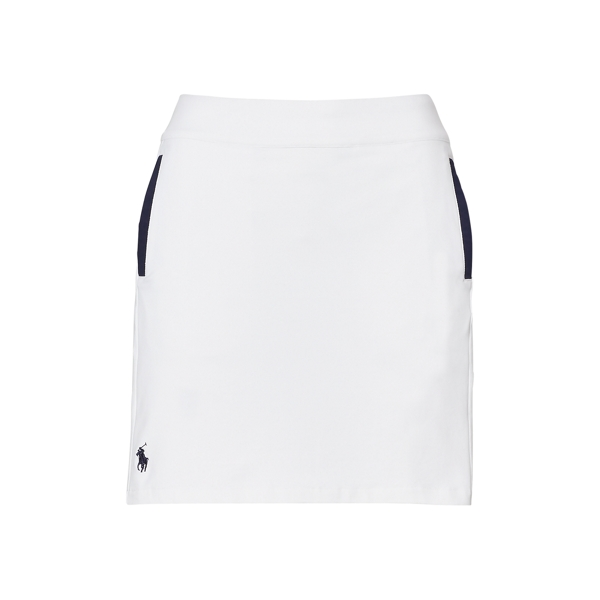 Ralph Lauren Pleated-Back Skort White/French Navy Xl
