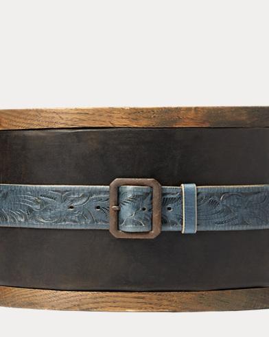 Tooled Leather Souvenir Belt