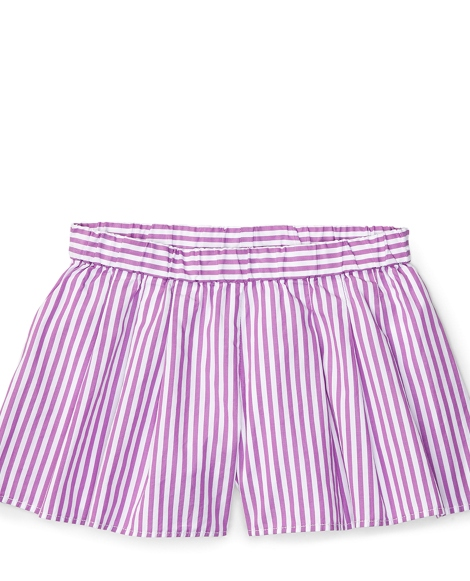 Striped Cotton Pull-On Short