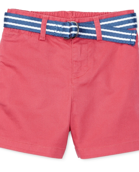 Belted Stretch Cotton Short