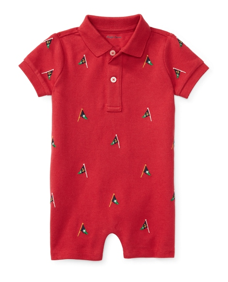 Embroidered Cotton Shortall