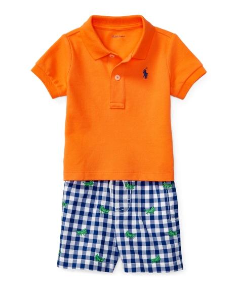 Cotton Polo & Poplin Short Set