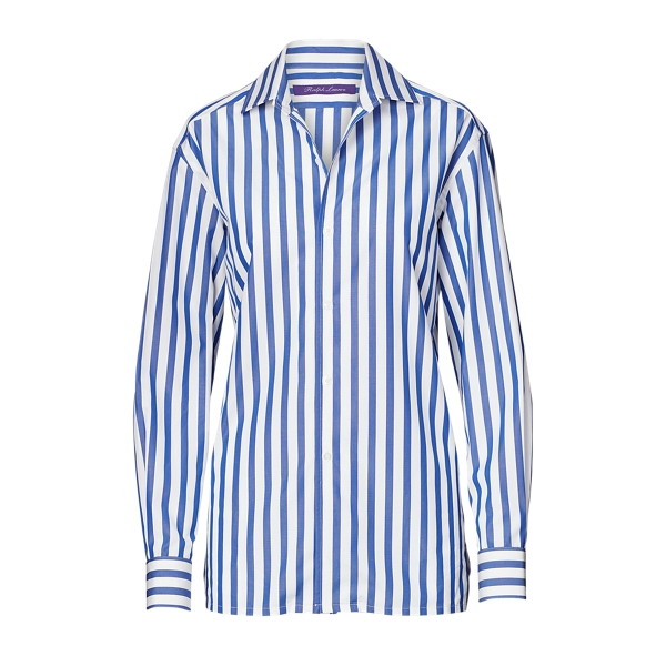 Ralph Lauren Striped Cotton Shirt White/Classic Blue 4