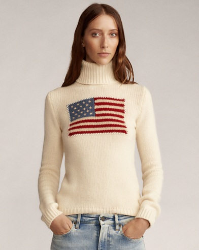 Flag Cashmere Turtleneck