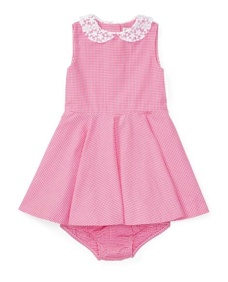 Gingham Cotton Dress & Bloomer