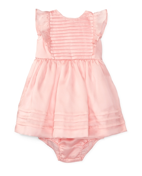 Pleated Silk Dress & Bloomer