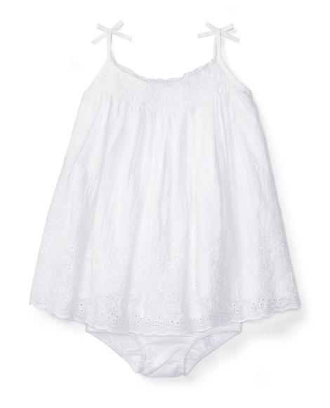 Smocked Cotton Dress & Bloomer