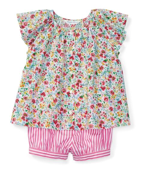 Flutter-Sleeve Top & Bloomer