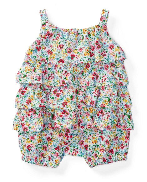 Floral Tiered Cotton Shortall
