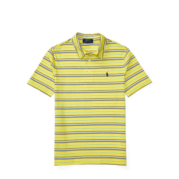Ralph Lauren Striped Cotton Jersey Polo Hampton Yellow Multi S