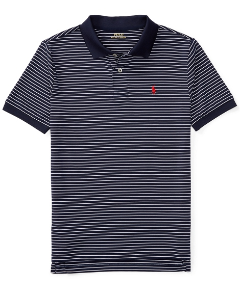 Striped Performance Polo Shirt