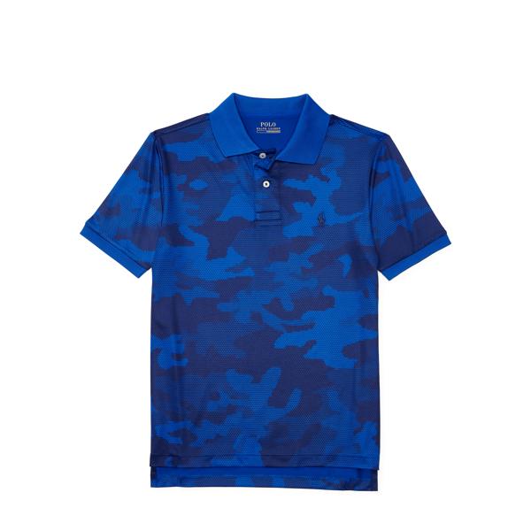 Ralph Lauren Camo Performance Jersey Polo Blue Camo Xl