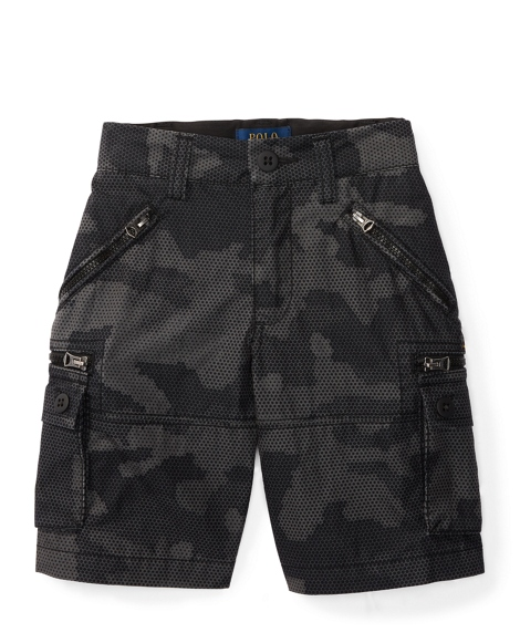 Cotton-Blend Cargo Short