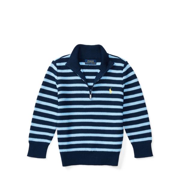 Ralph Lauren Striped Cotton Sweater Chateau Navy/Blue 6