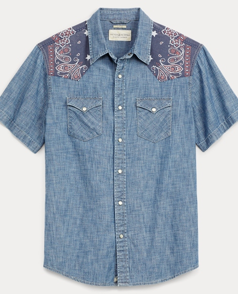Slim Chambray Western Shirt