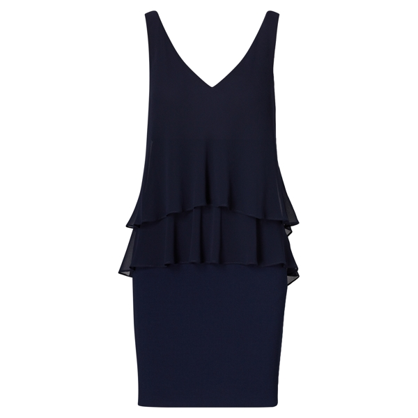 Ralph Lauren Georgette Tier Dress Lighthouse Navy 6