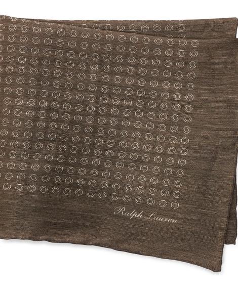 Linen-Cashmere Pocket Square