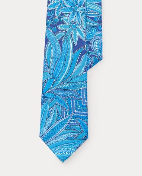 Floral Silk Habotai Narrow Tie