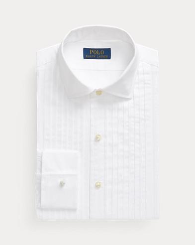 Slim-Fit Cotton Tuxedo Shirt