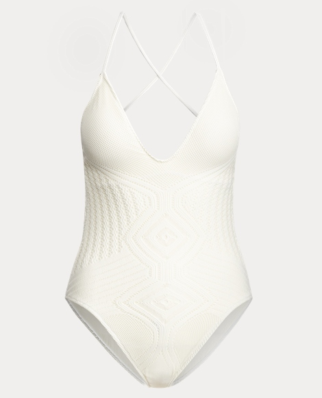 Crochet-Overlay One-Piece