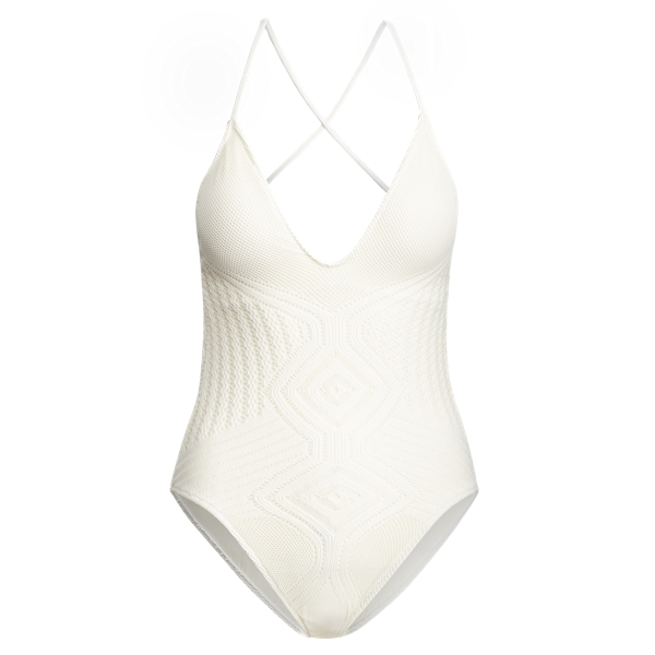 Ralph Lauren Crochet-Overlay One-Piece Cream Xs